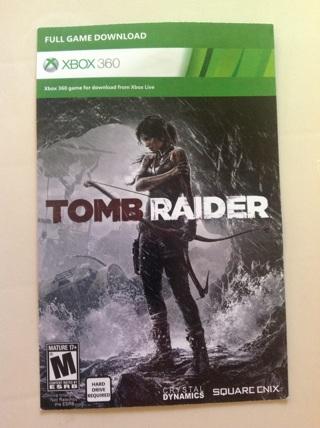 Xbox 360 Tomb Raider download code