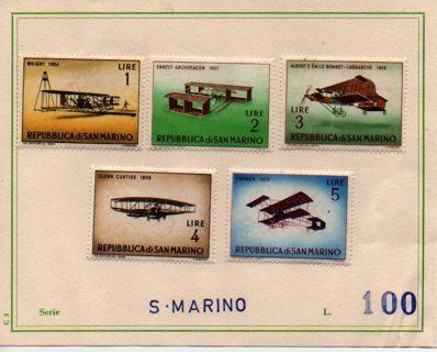 set of 5 on aviation - San Marino #BRO #2