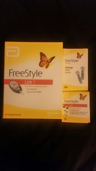 Freestyle lite monitor....lancets...& test strips