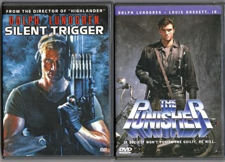 Dolph Lundgren ~ 2 DVD Lot ~ Marvel's THE PUNISHER, SILENT TRIGGER, in Orig. Cases
