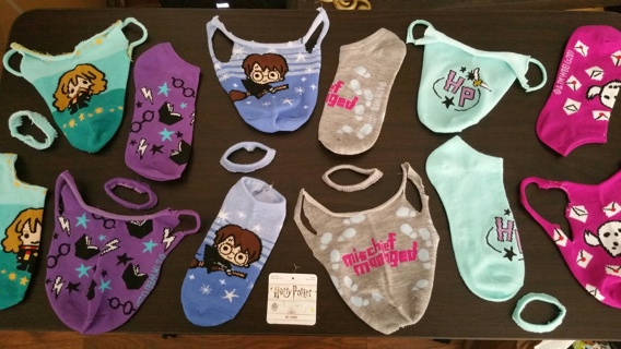 Choose 1 of These Harry Potter Masks Cut From a New Sock & Get Matching Sock to DIY Too / Free S/H