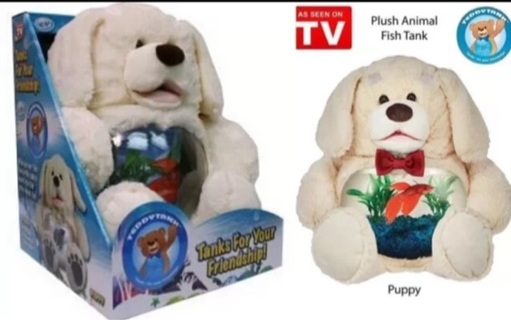 Free Teddy Tank Cute Dog As Seen On Tv Betta Fish Bowl Or Use