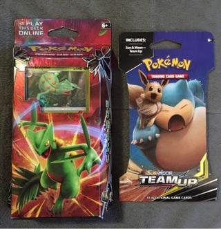 Pokémon Sun&Moon Celestial Storm Leaf Charge Deck & Sun&Moon Team Up Booster BNIB