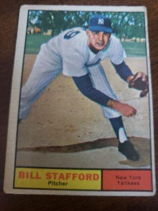 1961 Bill Stafford New York Yankees vintage baseball card