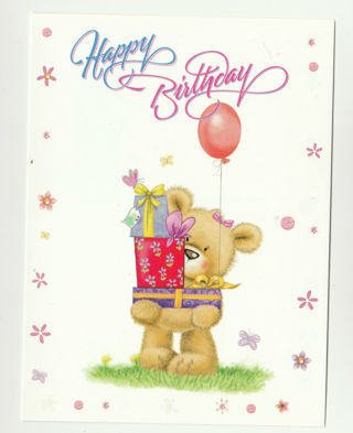 Free Birthday Card With Envelope Cute Teddy Bear
