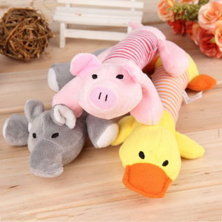 Puppy Chew Squeaker Squeaky Plush Sound Pig Elephant Duck Ball