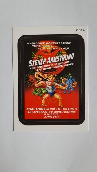 2013 Topps Wacky Packages • Coming Distractions • Stench Armstrong