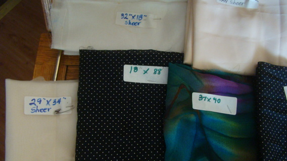 large lot of colorfull sheer