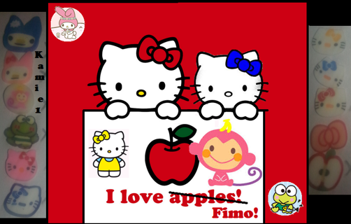 Hello Kitty and friends fimo slices!