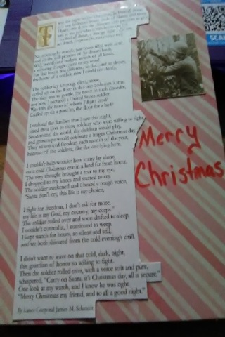 Soldiers-Night  Before Christmas Design Blank Card with Envelope