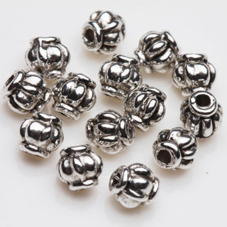 [GIN FOR FREE SHIPPING] 50PCs Tibet Silver Charm Loose Spacer Beads