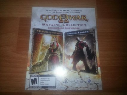 "God of War: Origins Collection - ""2 Full Games Download Voucher"" - DLC (PS3)"