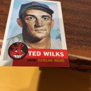 1953 topps archives Ted wilks  baseball card