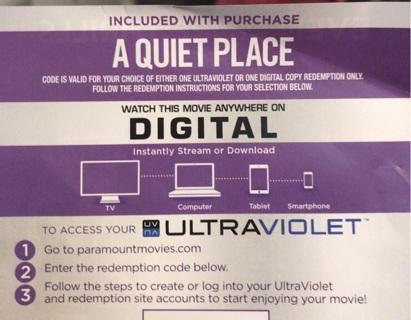 A quiet place digital hd