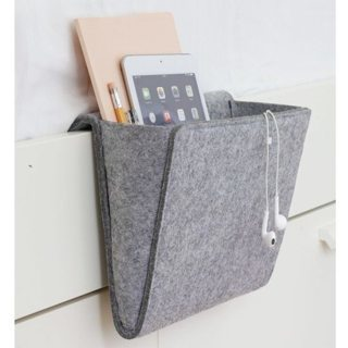 Storage Bag Portable Cell Phone Remote Control Holder Felt Fabric Hanging Armchair Couch Storage