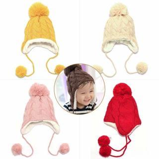 Trendy Winter Baby Beanie Hat Cap Warm Cute Kids Boys Girls Toddler Knitted
