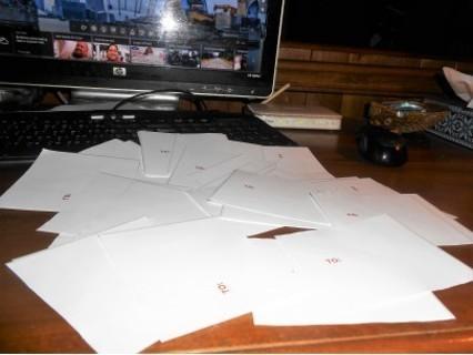 """35 peel n stic mailing labels,5"""" x 4"""""""