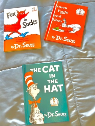 Three BNWOT Dr. Seuss' Beginner's Hardcover Books. +16 Various Removable Dr. Seuss Tattoos
