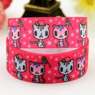 "Tokidoki Kawaii Cats Pink 7/8"" Grosgrain Ribbon 1 Yard NEW"