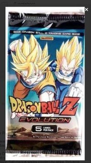 1 DRAGON BALL Z BOOSTER PACK anime DBZ cards Goku dbz manga dragonball z manga EVOLUTION pack Vegeta