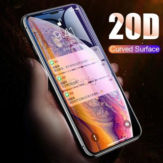 Bupud 20D Full Cover Screen Protector For iPhone 7 8 6 6S Plus XS Protective Glass For iPhone X XR