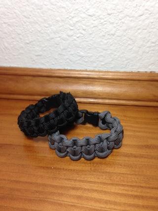 Bundle of 2 Paracord Bracelets XS