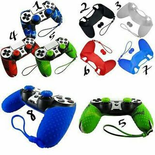 Silicone Cover Case Skin + 2 JoyStick Caps for Sony Playstation 4 PS4 Controller