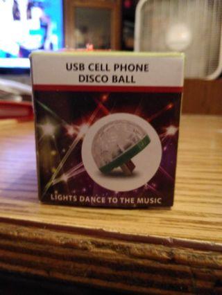 Cell phone disco ball