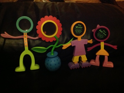 Bendable People Picture Frames Set Of 3 Flower