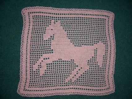 Free Chipper Filet Crochet Horse Pattern Only Crochet Listia