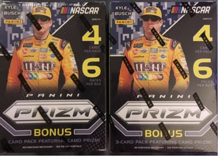 2-2018 NASCAR Prizm Blaster Boxes Brand New In the Box