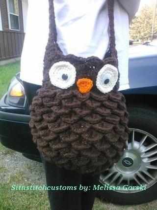 Free Custom Handmade Crochet Fat Owl Bagpurse Other Clothing