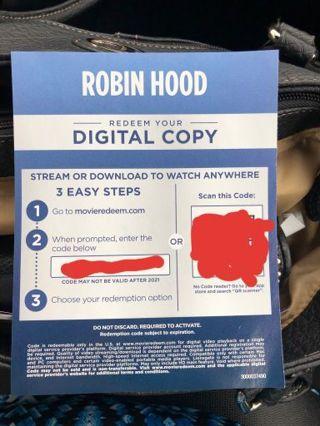 Digital HD cooy of Robin Hood. Latest version