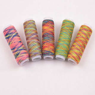 [GIN FOR FREE SHIPPING] 10PCS Sewing Machine Threads Overlocking String Polyester Colorful