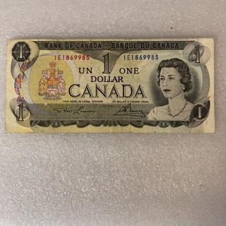 Canada $1 banknote 1973