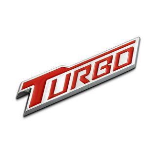 1Pcs 3D Metal TURBO Car Side Fender Rear Trunk Emblem Badge Sticker Decals