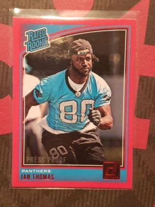 2018 Donruss Ian Thomas Rated Rookie Red Press Proof