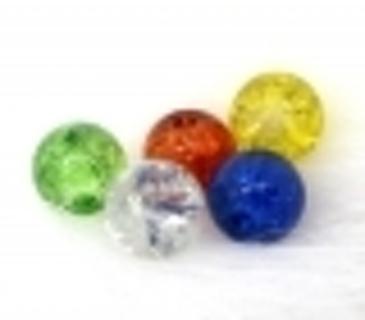 10 Random Glass Crackle Spacer Bead - 6mm