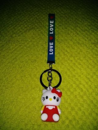 ❤✨❤✨❤BRAND NEW KAWAII HELLO KITTY SILICONE KEYCHAIN❤✨❤✨❤