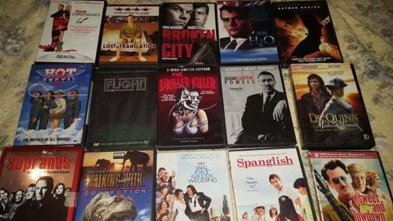 15 + DVDs Sopranos Big Fat Greek Wedding