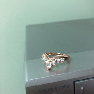 Rose Gold Color Ring. Size 6