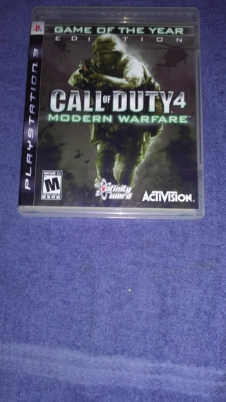 Call of Duty 4 Modern Warfare-ps3 --No Scratches