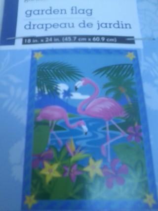 pink flamingo   garden flag