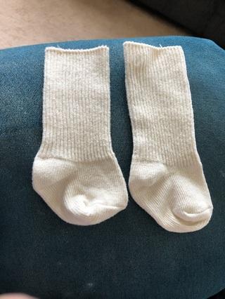 Beige newborn baby socks