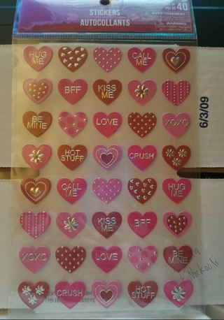 Valentine's Day Heart Stickers Beautiful