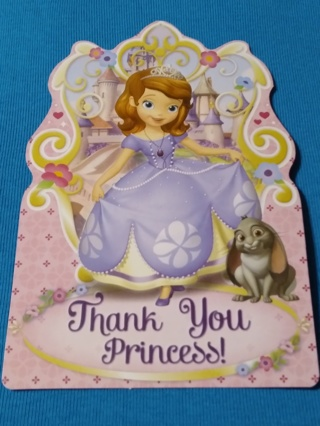 Thank You Postcards - Sofia The First