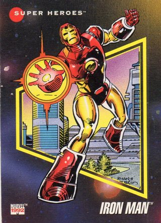 1992 Marvel Comic Trade Card: Iron Man