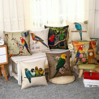 Vintage Home Decor Cotton Linen Pillow Case Sofa Waist Throw Cushion Cover NEW