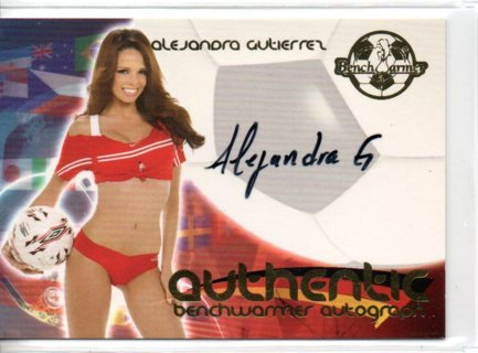 2006 Benchwarmer Alejandra Gutierrez World Cup Autograph