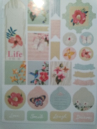 Another Large Sheet of Floral Planner Stickers